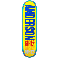 Girl Anderson Triple OG - Yellow/Multi - 8.5 - Skateboard Deck