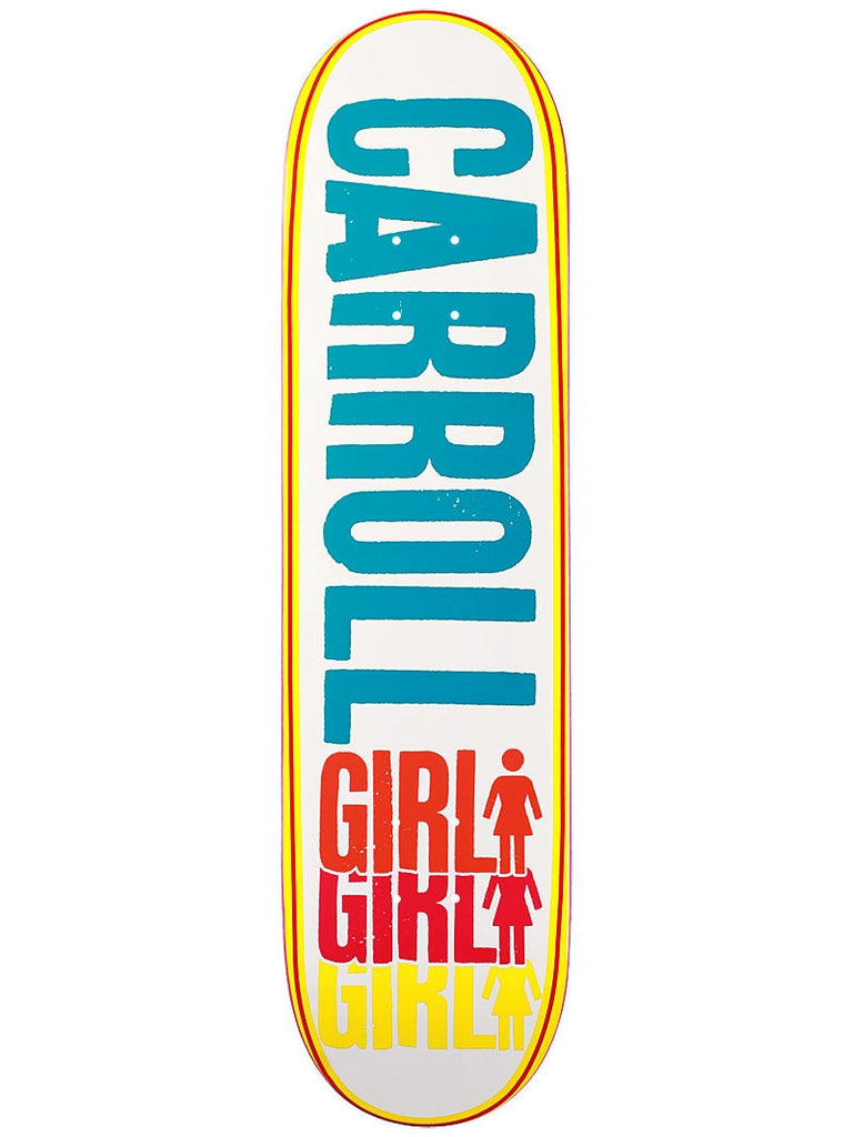 Girl Carroll Triple OG - White/Multi - 8.125 - Skateboard Deck