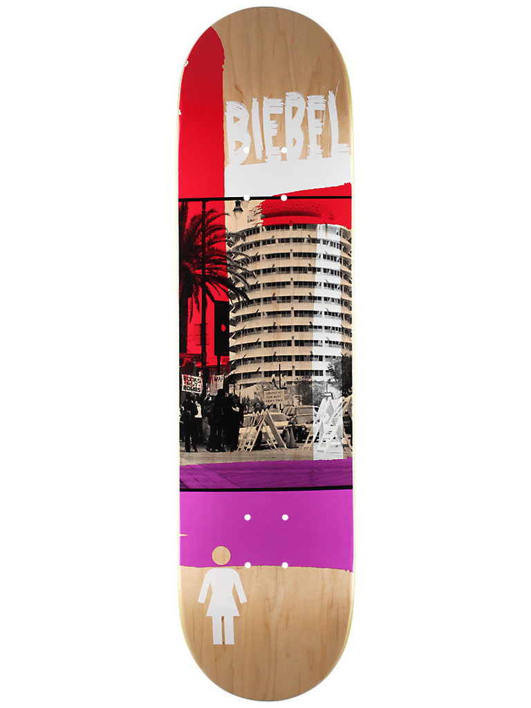 Girl Biebel Darkroom - Purple/Red - 7.875 - Skateboard Deck