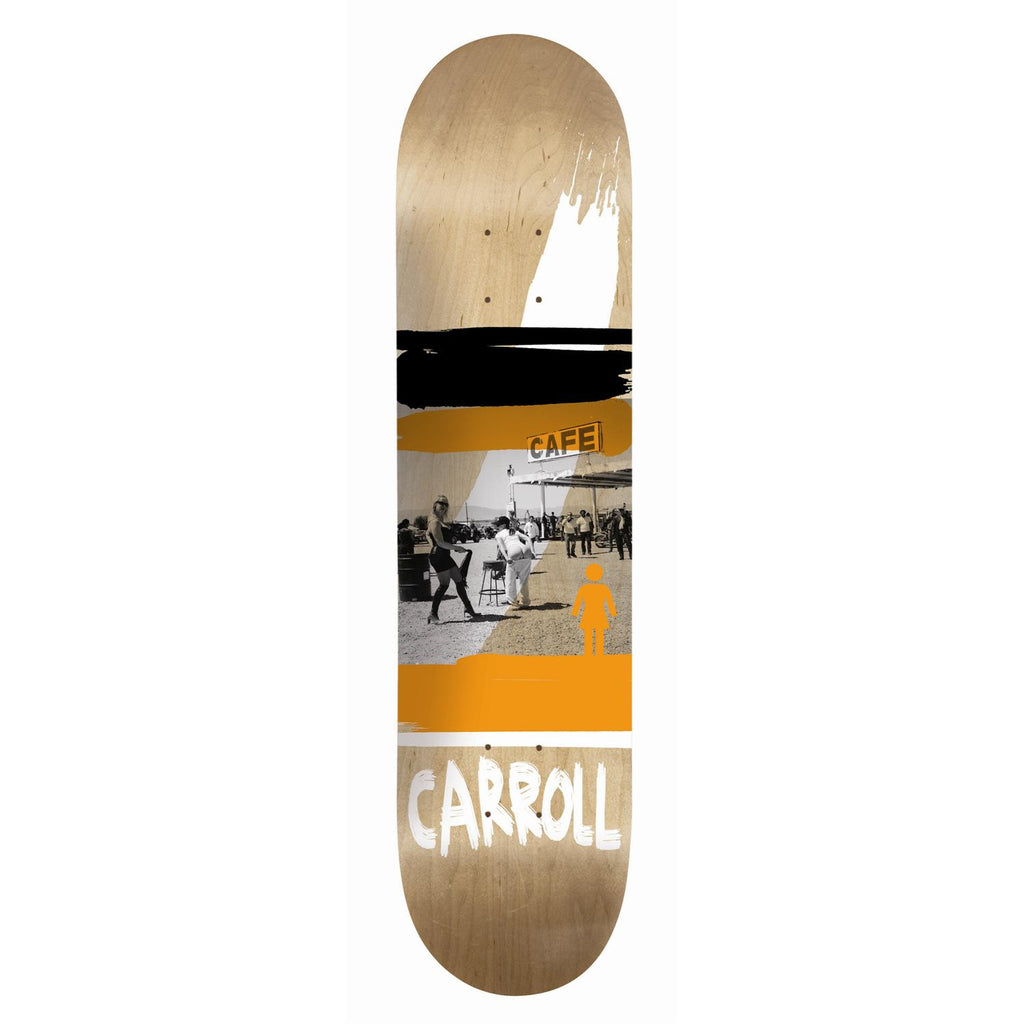 Girl Carroll Darkroom - Orange/Black - 8.125 - Skateboard Deck