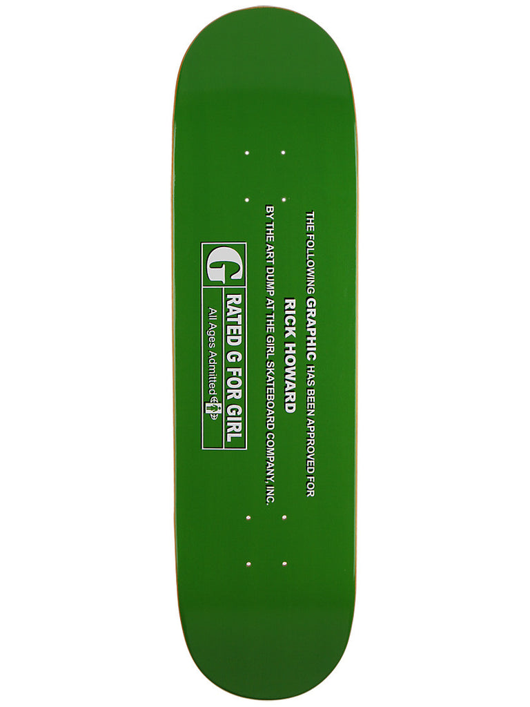 Girl Howard G-Rated - Green - 8.5 - Skateboard Deck