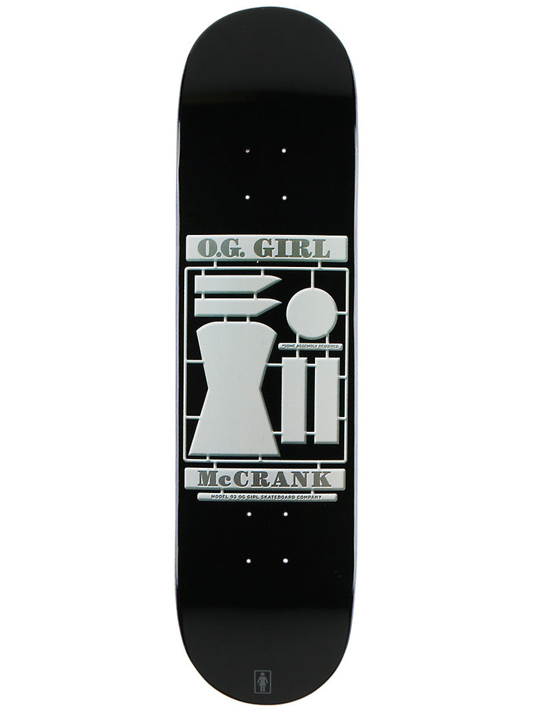 Girl McCrank Model - Black - 8.25 - Skateboard Deck