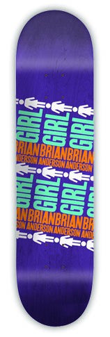 Girl Anderson Pop Secret 2 - Purple - 8.5 - Skateboard Deck