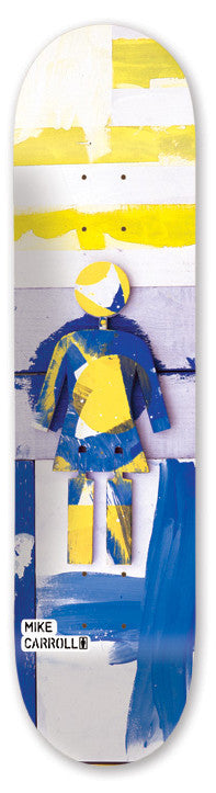 Girl Carroll Owens World - Blue/Yellow - 8.125 - Skateboard Deck