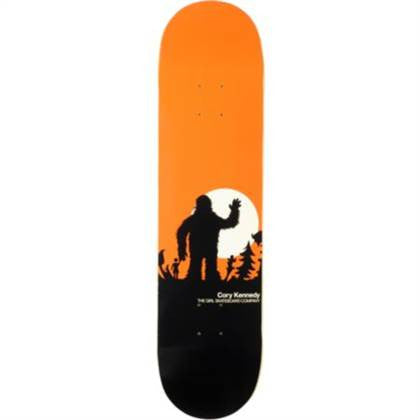 Girl Kennedy Sasquatch - Orange/Black - 8.0 - Skateboard Deck