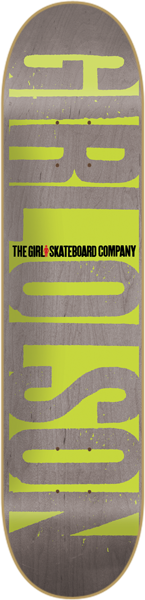 Girl Olson Invert - Grey/Green - 8.375 - Skateboard Deck
