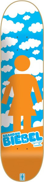Girl Biebel Crail Clouds - Orange/Blue - 7.875 - Skateboard Deck