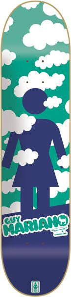 Girl Mariano Crail Clouds - 8.125 Inch - Green/Navy - Skateboard Deck