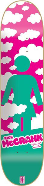 Girl McCrank Crail Clouds - 8.375 Inch - Pink/Teal - Skateboard Deck