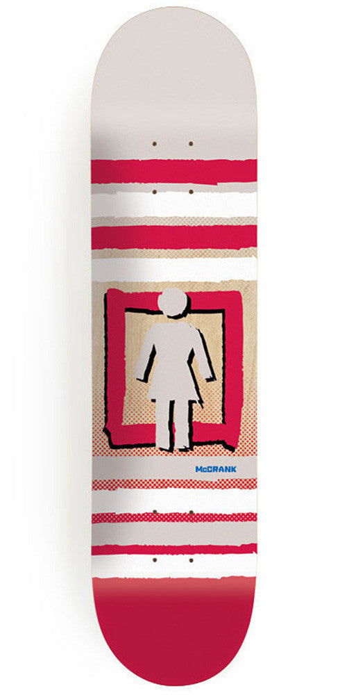 Girl McCrank Out Of The Box Pop Secret - 8.375 Inch - White/Red - Skateboard Deck