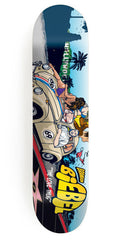 Girl Biebel Be Kind Rewind - 7.875 Inch - Multi - Skateboard Deck