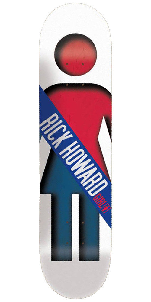 Girl Howard Half & Half - 8.5 Inch - White/Red/Blue - Skateboard Deck