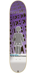 Girl Biebel Blast Off - 7.87 Inch - Purple/Black- Skateboard Deck
