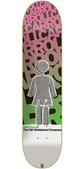Girl Carroll Blast Off - 8.12 Inch - Pink/Green - Skateboard Deck