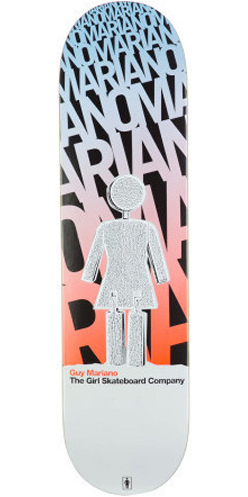 Girl Mariano Blast Off - 8.12 Inch - White/Blue/Red - Skateboard Deck