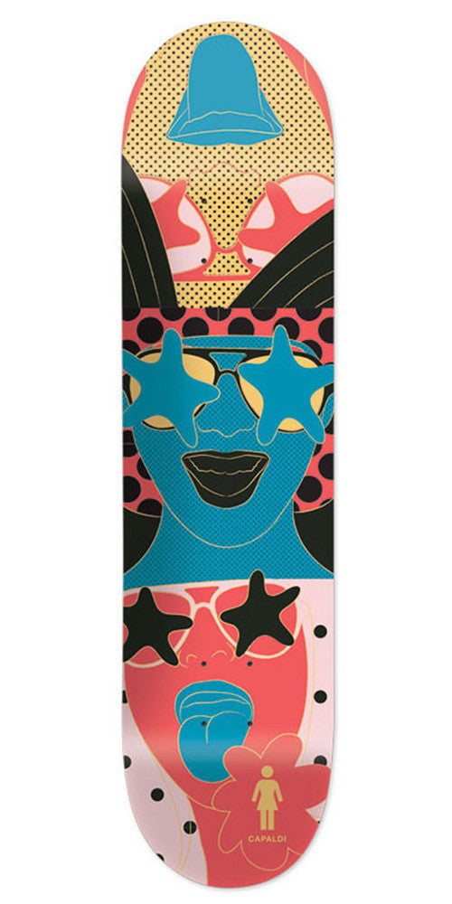 Girl Mike Mo Starstruck - Multi - 8.0in x 31.875in - Skateboard Deck