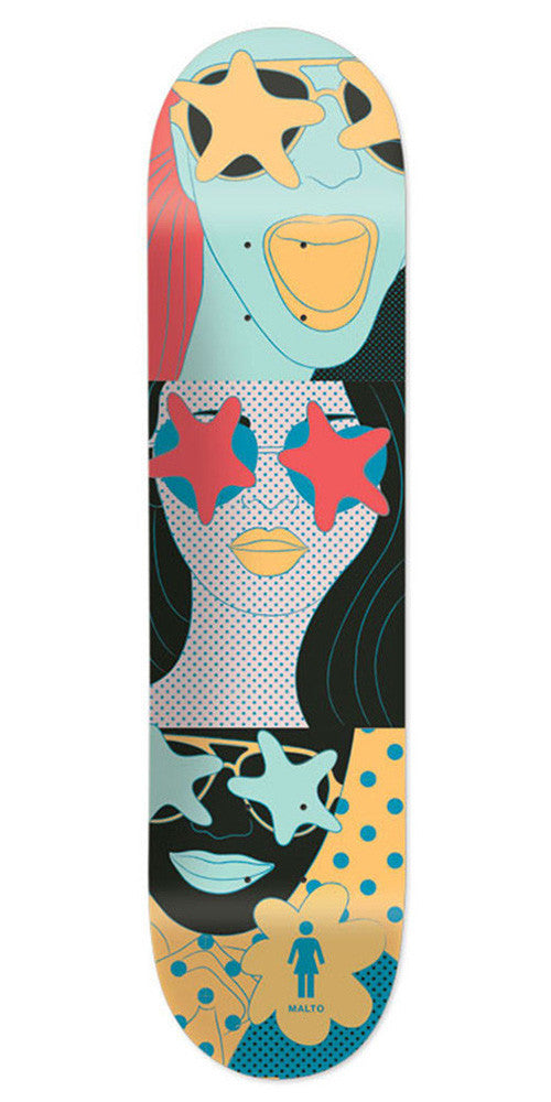 Girl Malto Starstruck - Multi - 8.125in x 31.625in - Skateboard Deck