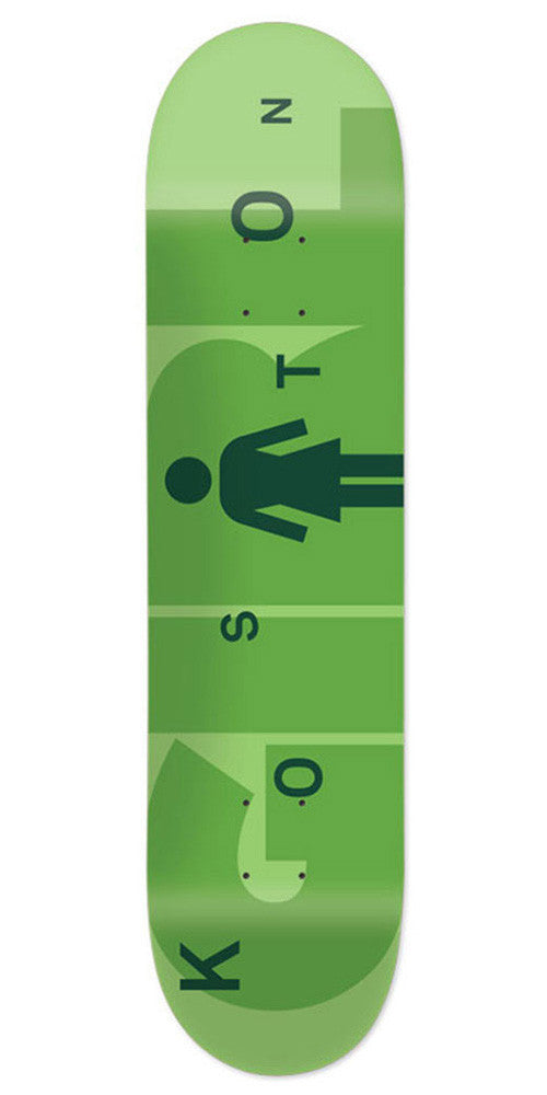 Girl Koston Advertype - Light Green/Green - 8.25in x 31.625in - Skateboard Deck