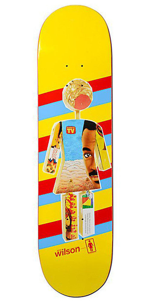 Girl Wilson One Offs - Yellow - 8.0in x 31.875in - Skateboard Deck