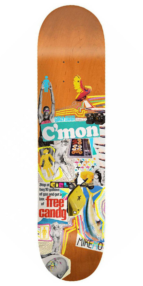 Girl Mike Mo Mish Mosh - Orange - 8.0in x 31.875in - Skateboard Deck