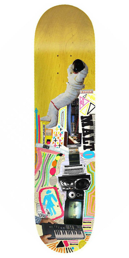 Girl Malto Mish Mosh - Yellow - 8.125in x 31.625in - Skateboard Deck