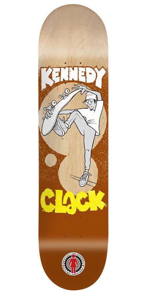 Girl Kennedy Lettus Bee - Natural/Brown - 8.125in x 31.3in - Skateboard Deck