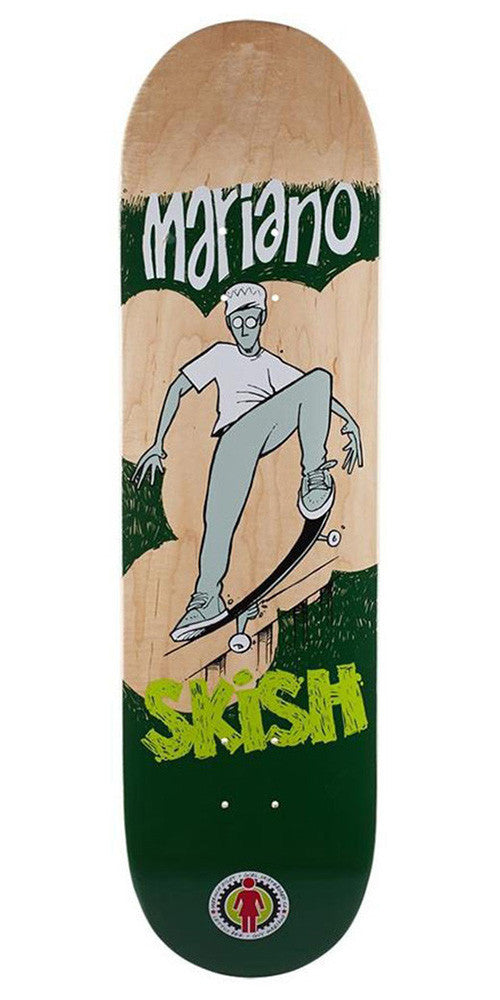 Girl Mariano Lettus Bee - Natural/Green - 8.375in x 31.75in - Skateboard Deck