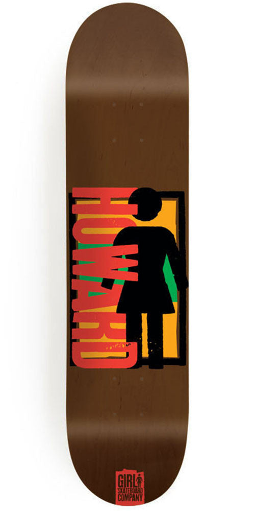 Girl Howard Spike It! - Brown - 8.5in x 31.875in - Skateboard Deck