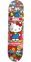 Girl Carroll Hello Kitty - Multi - 8.0in x 31.62in - Skateboard Deck