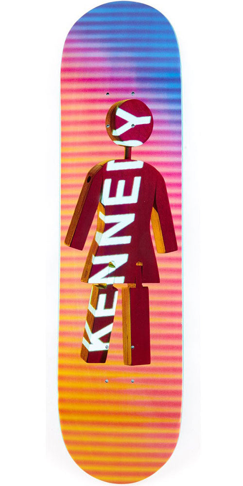 Girl Kennedy Future Projections - Blue/Orange - 8.0in x 31.5in - Skateboard Deck