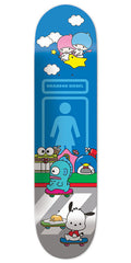 Girl Brandon Biebel Hello Sanrio - Blue - 8.00in x 31.875in - Skateboard Deck