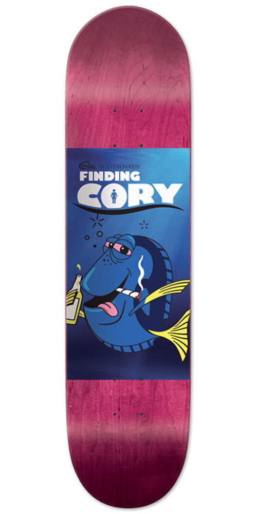 Girl Cory Kennedy Fiding Cory - Purple - 8.25in x 32.00in - Skateboard Deck