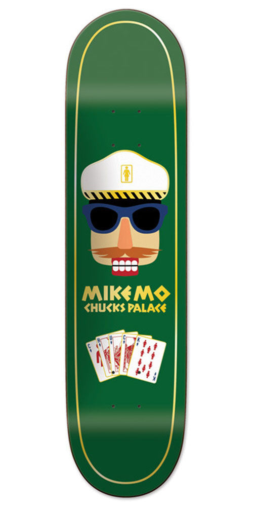Girl Mike Mo Chuck's Palace Deck - Green - 8.25in x 32.00in - Skateboard Deck