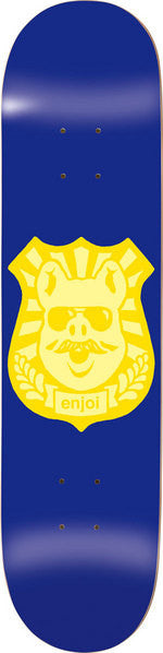 Enjoi Pig Badge R7 - Blue/Yellow - 8.1 - Skateboard Deck