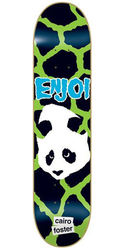 Enjoi Cairo Foster Punk Doesn't Fit Impact - Green/Black - 8.1 - Skateboard Deck