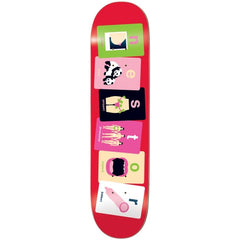 Enjoi Alphabet Cards R7 Judkins - Red - 8.1 - Skateboard Deck