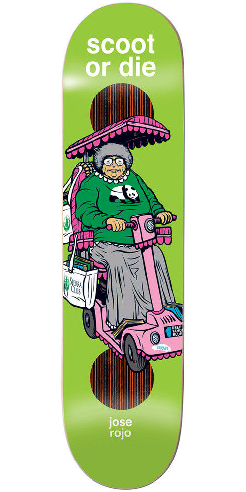 Enjoi Scooters Impact Plus Jose Rojo - Green - 8.0 - Skateboard Deck