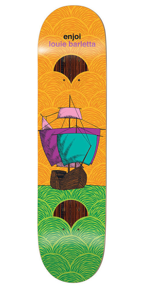 Enjoi Louie Barletta Vessels Impact Plus - Orange/Green - 8.0 - Skateboard Deck