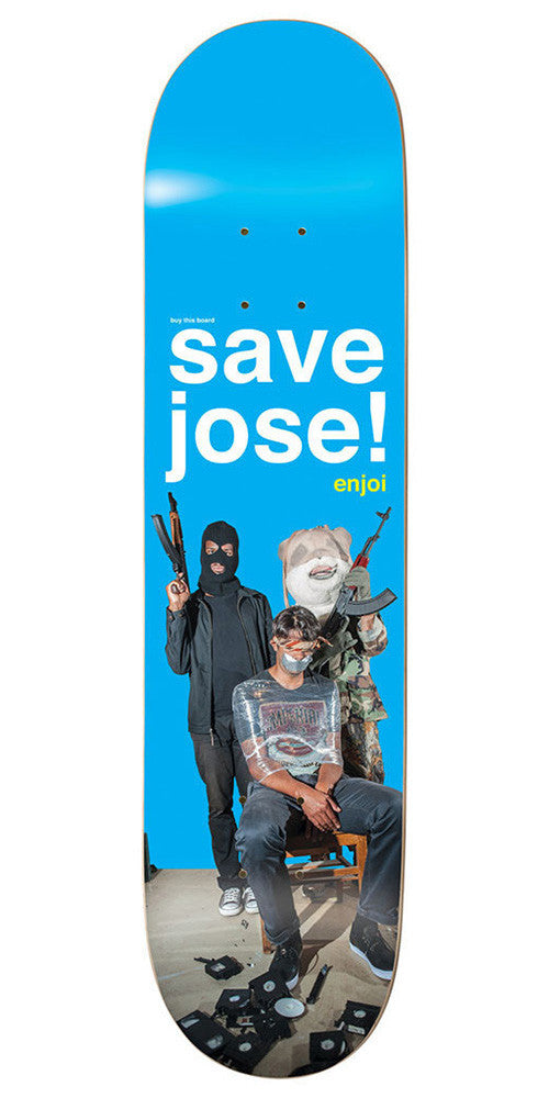 Enjoi Save Jose R7 - Blue - 8.0 - Skateboard Deck
