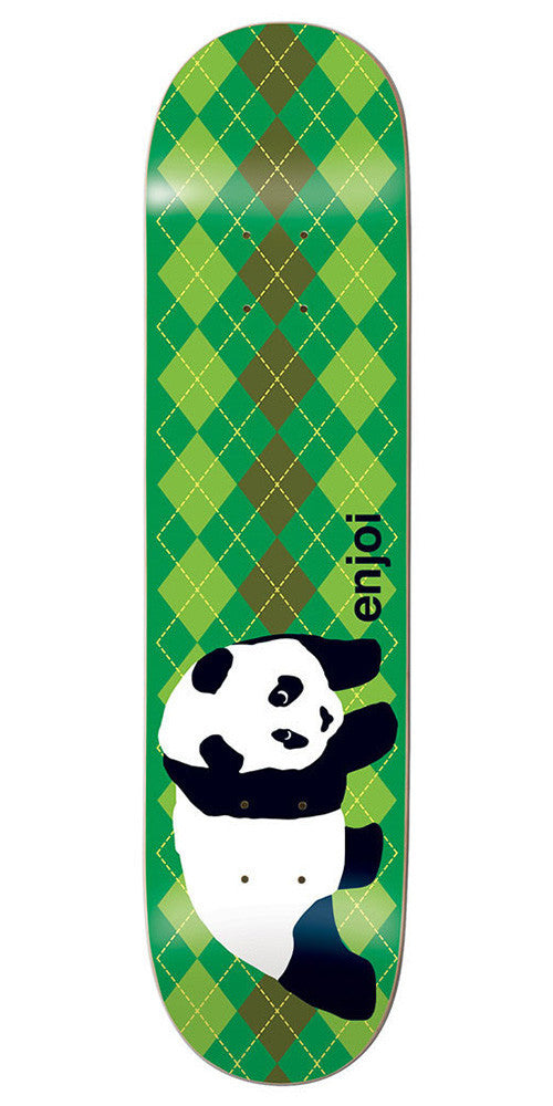 Enjoi Original Panda Argyle R7 - Green - 8.5 - Skateboard Deck