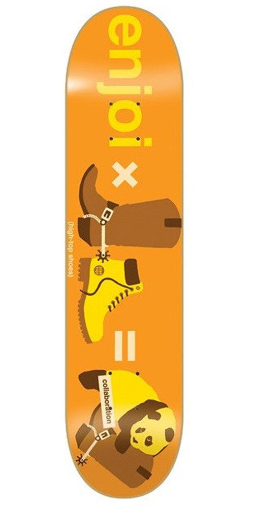 Enjoi Rojo Dumb Collaboration R7 - Orange/Brown - 8.1in - Skateboard Deck