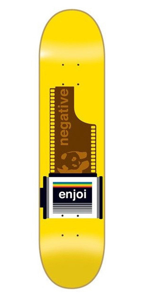 Enjoi Negative R7 - Yellow - 8.25in - Skateboard Deck