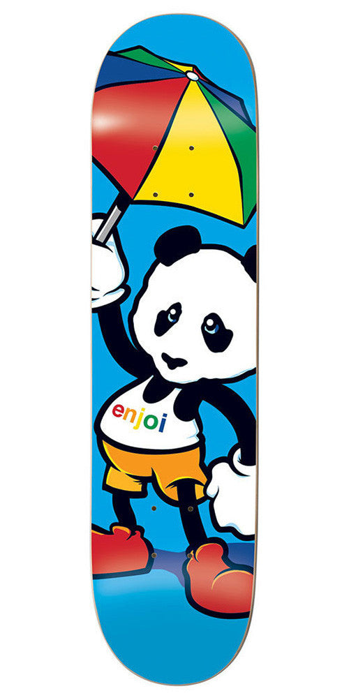 Enjoi Cartoon Panda R7 - Blue - 8.0in - Skateboard Deck