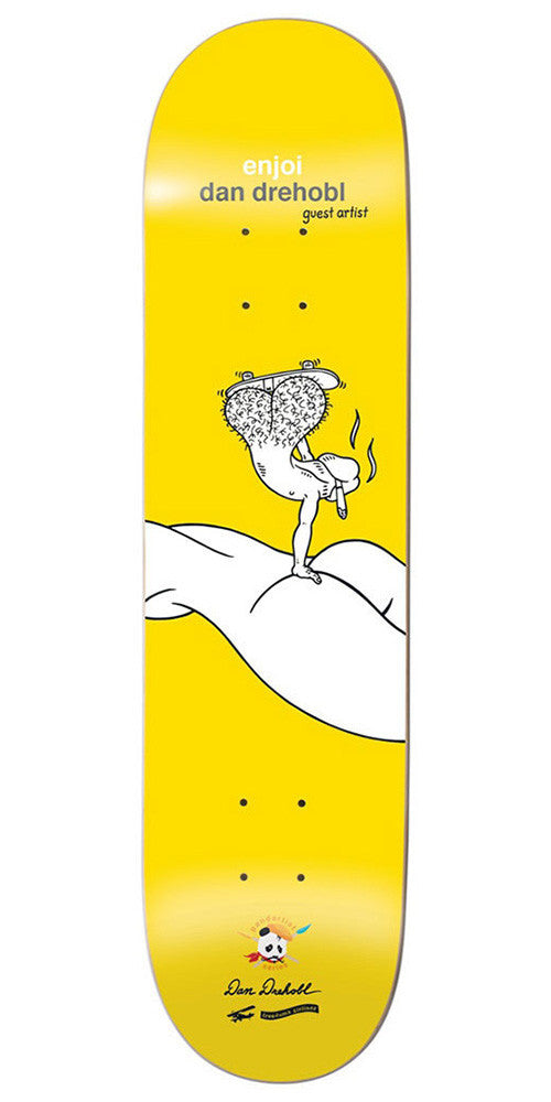 Enjoi Dan Drehobl Don't Be a Dick R7 - Yellow - 8.25in - Skateboard Deck