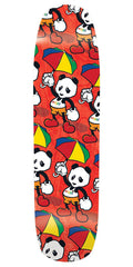 Enjoi Cartoon Multi Panda R7 - Red - 8.375in - Skateboard Deck