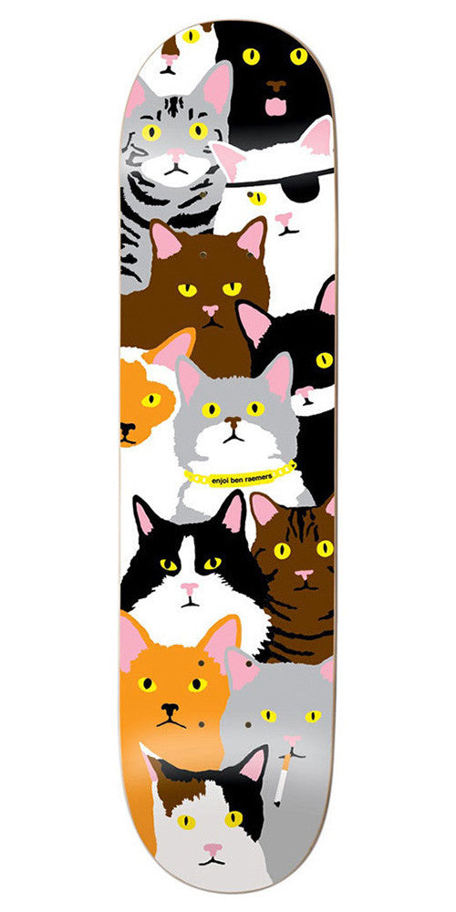 Enjoi Ben Raemers Cat Series R7 - Multi - 8.0in - Skateboard Deck
