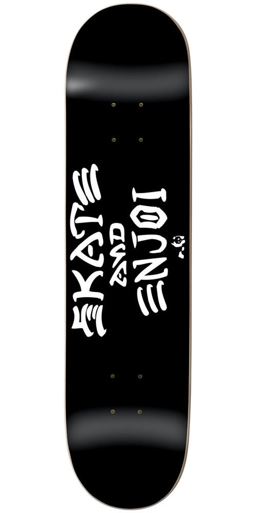 Enjoi Skate And Enjoi R7 - Black - 8.5in - Skateboard Deck