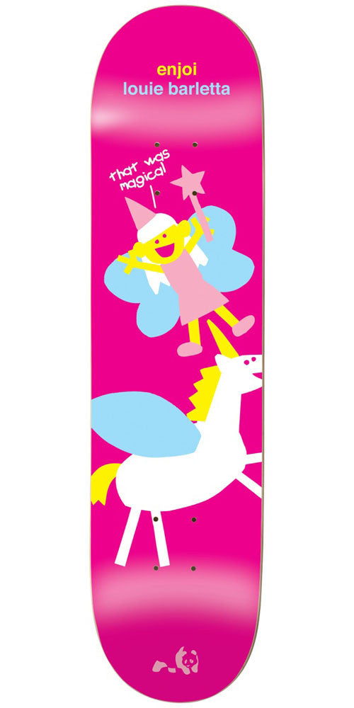 Enjoi Louie Barletta Mythical Creatures IL - Pink - 7.75in - Skateboard Deck