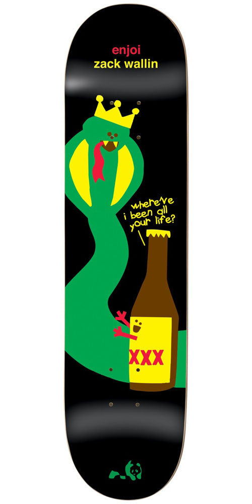 Enjoi Zack Wallin King Cobra IL - Black - 8.25in - Skateboard Deck