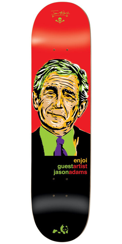 Enjoi Jason Adams Presidents R7 - Red/Black - 8.5in - Skateboard Deck